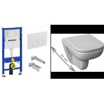 GEBERIT 3in1 ir WC puodo DURAVIT D-CODE komplektas